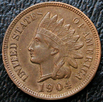1904 Indian Head Cent RB UNC. Uncirculated