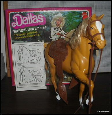 Horse Barbie Doll Mattel Vintage 1981 Dallas Horse  #3312 Accessory For Diorama