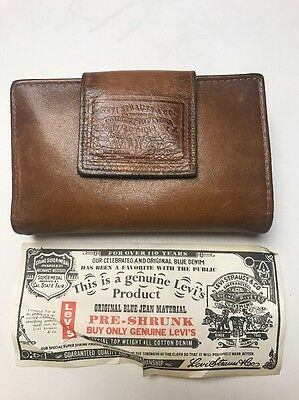 Vintage Levi's Leather Wallet Embossed Levi Strauss Logo