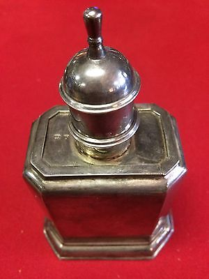 Antique Silver Tea Caddy Box