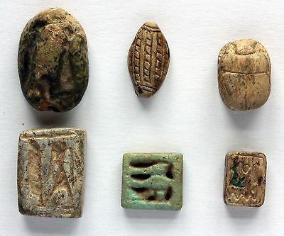 Ancient Egyptian Scarabs and Plaques