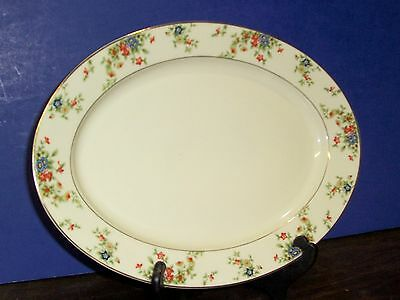 """Heinrich & Co Selb Bavaria Germany Meadow Platter 14.5""""  Never Used Free Us Ship"""