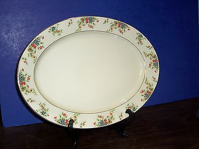 """Heinrich & Co Selb Bavaria Germany Meadow Platter 16""""  Never Used Free Us Ship"""