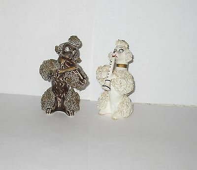 Spaghetti Poodles Rhinestone Eyes Musical instruments THAMES Pair Brown & White
