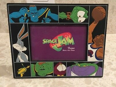 Vintage Space Jam Looney Toons 4x6 Picture Frame Rare