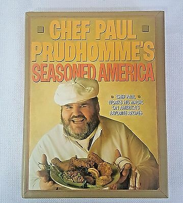 Chef Paul Prudhomme's Cookbook Seasoned America 1st Edition Good Condition