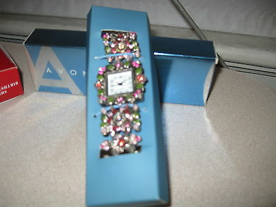 Avon Vintage Flower Stretch Watch For Women Nib