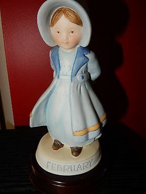 Vintage Holly Hobbie Designers Collection Birthday February With Its Stand
