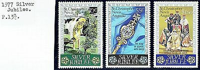 St.christopher Nevis Anguilla.1977.silver Jubilee Set See Scans