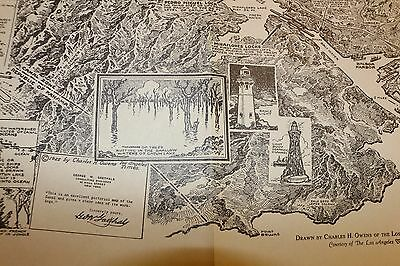 MInt condition large Panama Canal 1925 Hand drawn birdseye map book
