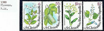 St.christopher Nevis Anguilla.1980.flowers Set. As Is  See Scans