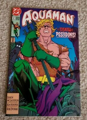 Aquaman #2 Jan 1992 Both Sides of the Issue Queenqueg 1st Appearance DC Comics