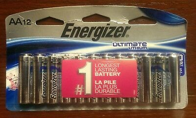 Energizer® Ultimate Lithium AA Batteries 12-Pack Exp: 12-2037