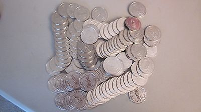 Lot of 135 Pachislo Miyama Pachinko Slot Machine Gaming Tokens Half Dollar Size