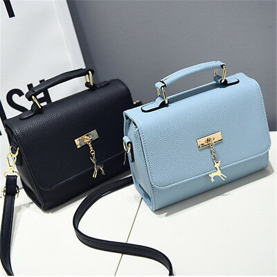 Womens Vintage Candy Color Small Shoulder Bag Satchel Crossbody Handbag Purse