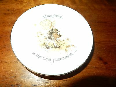 Vintage Holly Hobbie A true friend is your best possession Small Pin Dish