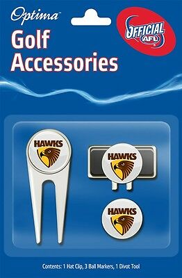 Afl Golf Accessory Pack - Hawthorn - Official Afl Product - Gift Idea!