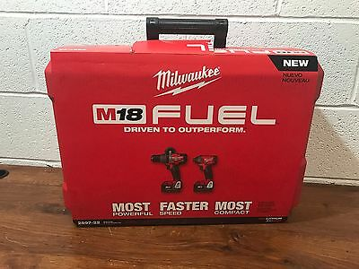 New MILWAUKEE 2897-22 M18 Fuel 2-Tool Combo Kit Cordless Lithium-Ion XC 2x5.0Ah