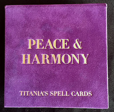 TITANIAS PEACE & HARMONY SPELL CARDS - 64 DIFFERENT CARDS - Box & Cards Like New