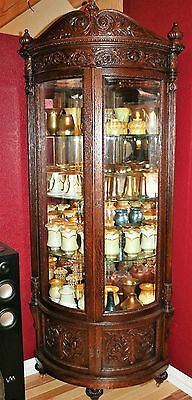 R. J. Horner (New York) Quarter swan Oak Corner China Cabinet