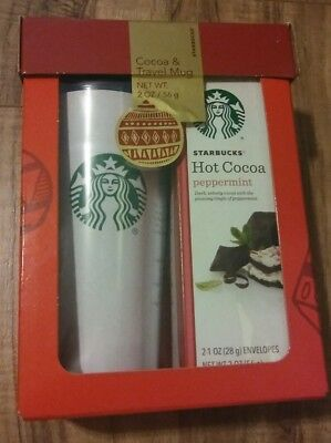 NEW Starbucks Gift Set White w/ Green Mermaid Travel Mug (16 fl oz)