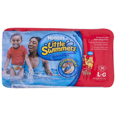Huggies Little Swimmers Swim Nappy 10 Pack Large 14kg +