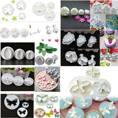 57 Varieties Fondant Cutters / Plungers / Sugarcraft Cake Icing Mould Decorating