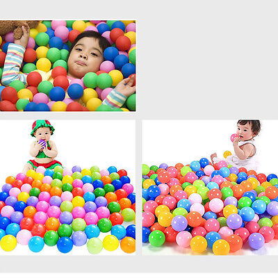 UK 100pcs Quality Secure Baby Pit Toy Swim  Colorful Soft Plastic Ocean Ball New