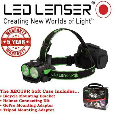 LED Lenser SOFT CASE Rechargeable XEO19R Headlamp Authorised Seller 5 Year Wty