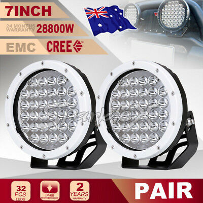 7''28800W White CREE LED ROUND Driving Work Spot Light HID Offroad4x4 Truck SUV