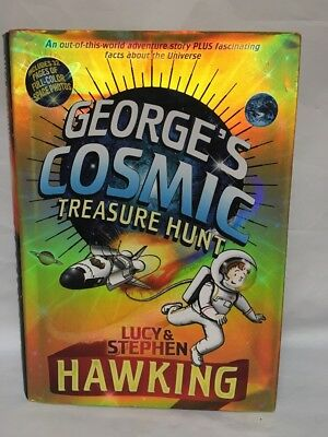 George's Cosmic Treasure Hunt First Edition Signed By Lucy Hawking Hardcover VGC