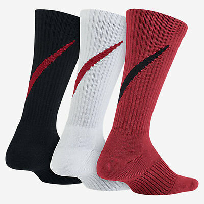 Youth Nike Graphic Cushioned Crew Socks (3 Pairs) Sx5268-902 Size 5Y-7Y