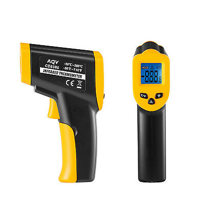 Temperature Gun Non-contact Infrared IR Laser Digital Thermometer -58 F to 716 F