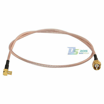 SMA Male to MCX Male Plug RF Coaxial RG316 Antenna Pigtail Converter Wire 1.5ft