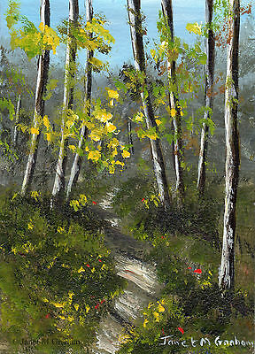 Spring Woods ACEO Original Landscape ACEO Acrylic Painting Realistic Art