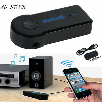 Wireless Bluetooth 3.5MM 2.4GHz AUX udio Stereo Music Home Car Receiver Adapter