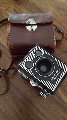 Brownie camera SIX-20 E model with book and case