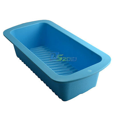 Rectangle Large Soap Ice Silicone Mold Bread Cake Trifle Toast Baking Mould Pan