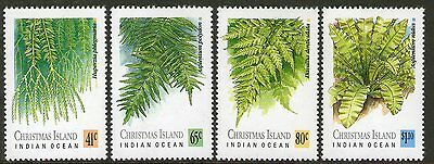 CHRISTMAS Is, 1989 FERNS 4 MNH