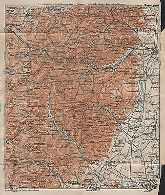 MAP ANTIQUE 1905 BAEDEKER LIEGE CITY PLAN OLD LARGE REPLICA POSTER PRINT PAM0422
