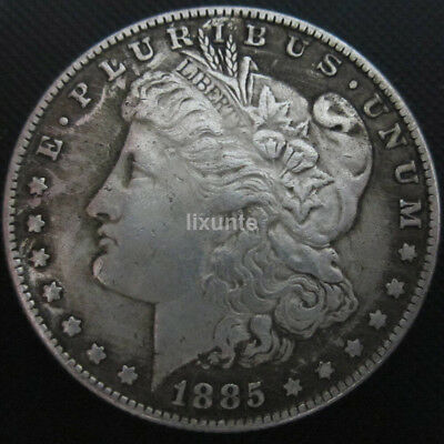 AD1885 USA United Morgan Dollar $1 Silver Coin Collection Antique Dollar 38mm UK