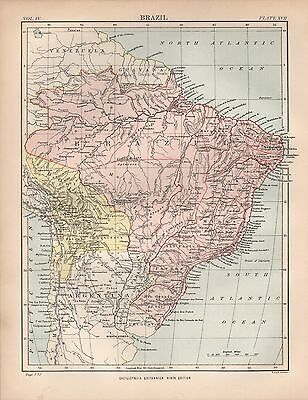 1880 ca ANTIQUE MAP- BRAZIL