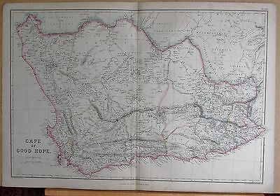 1860  Large Antique Map - Cape Of Good Hope