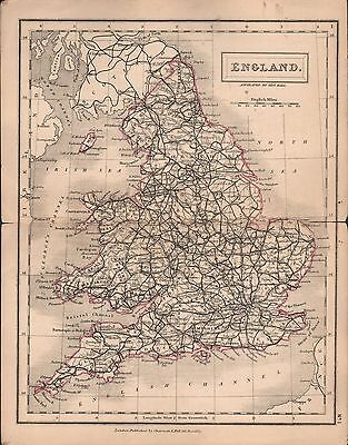 1860 Hall Map Railways - England And Wales