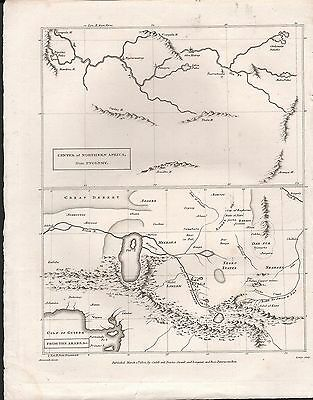 1802 Antique Map - Arrowsmith - Center Of Northern Africa - 2 Images