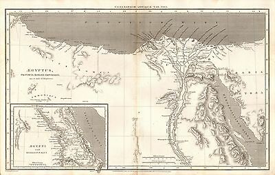1807 Antique Map-Rees Ancient Geography-Aegyptus, Egypt, Macpherson