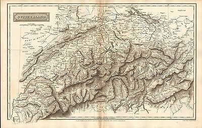 1808 Antique Map- Switzerland, Engraved By Sidney Hall
