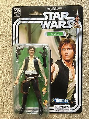 "Star Wars Black Series 40th Anniversary Han Solo 6"" MOC"