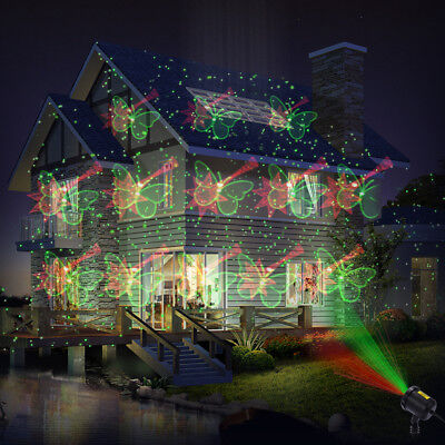 Waterproof Laser Projector Light with RF Remote 12 Patterns for Landscap Garden