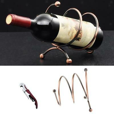 BOTTLE WINE HOLDER ORNAMENT DECOR NOVELTY RACK STAND with Corkscrews